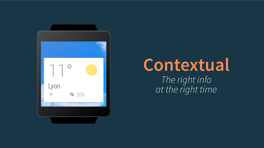 Contextual The right info at the right time