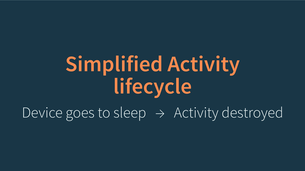 Simplified Activity lifecycle Device goes to sl...