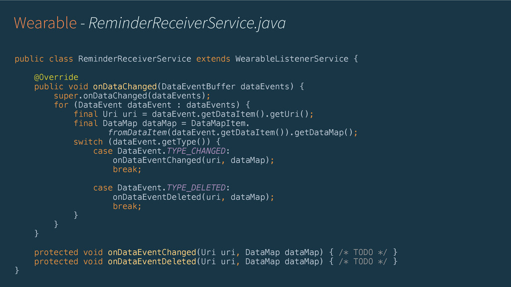 Wearable - ReminderReceiverService.java public ...