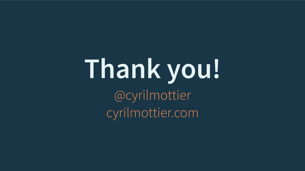 Thank you! @cyrilmottier cyrilmottier.com