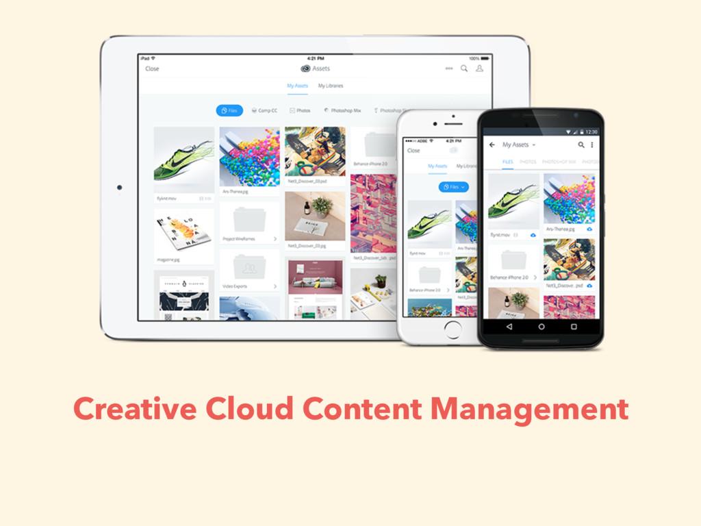 Creative Cloud Content Management