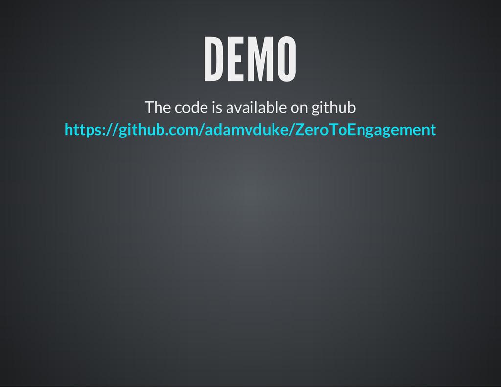 DEMO The code is available on github https://gi...