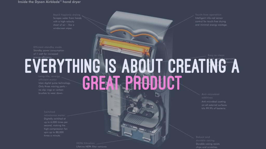 EVERYTHING IS ABOUT CREATING A GREAT PRODUCT