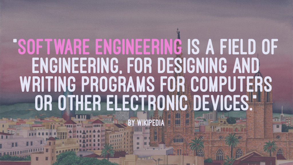 """SOFTWARE ENGINEERING IS A FIELD OF ENGINEERING..."