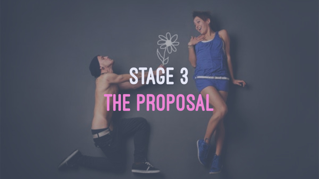 STAGE 3 THE PROPOSAL