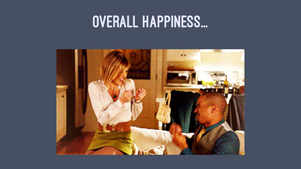 OVERALL HAPPINESS...