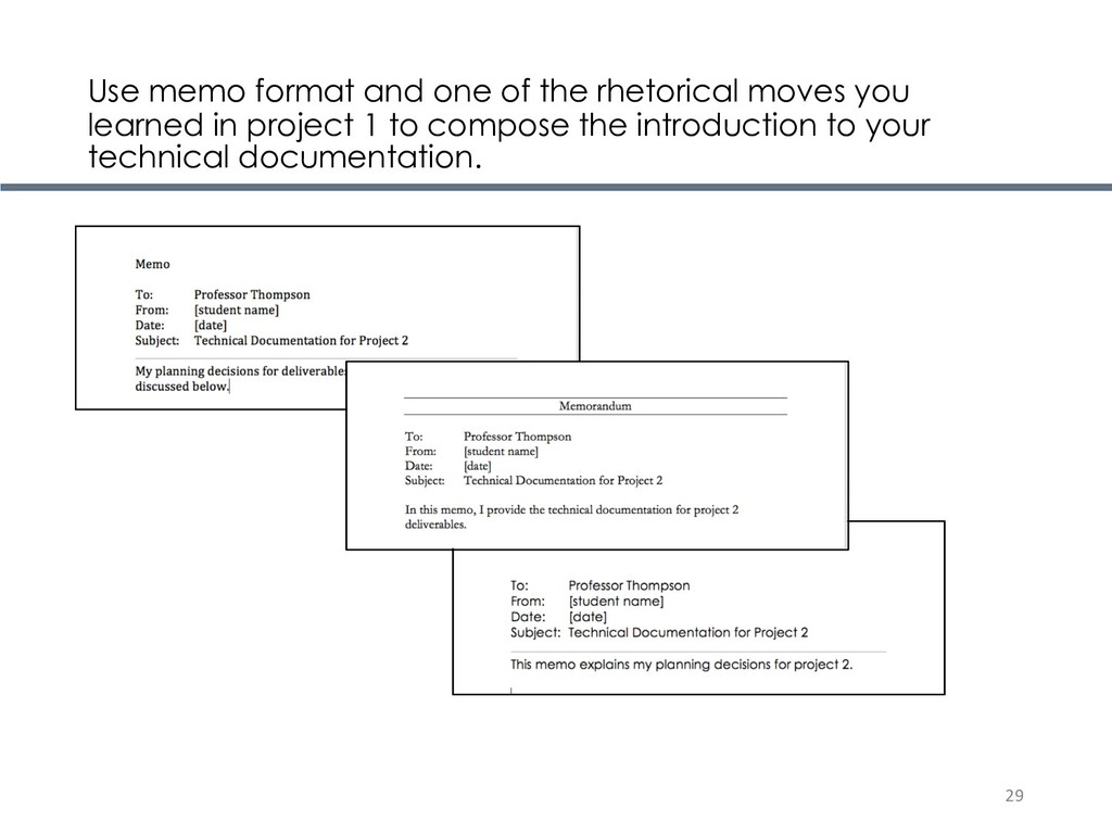 Use memo format and one of the rhetorical moves...