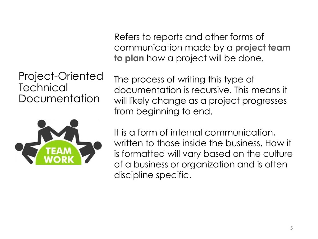 Project-Oriented Technical Documentation Refers...