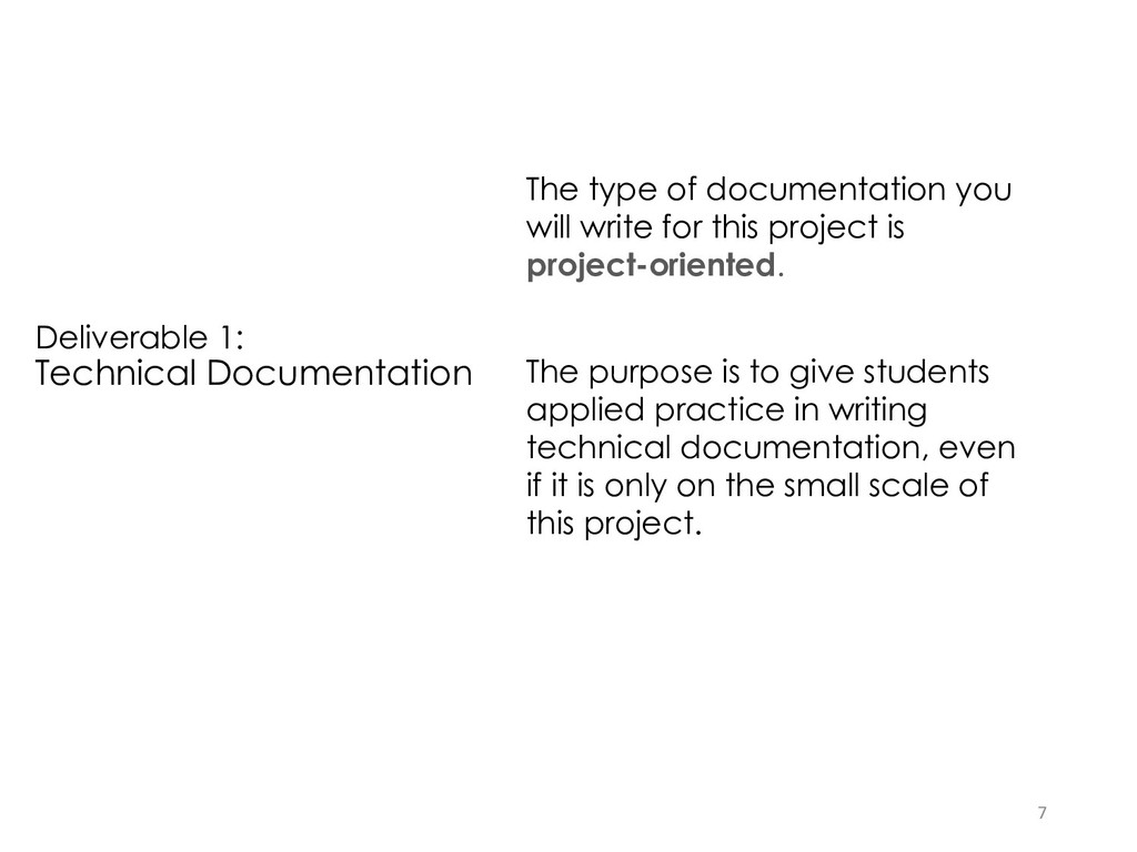 Deliverable 1: Technical Documentation The type...