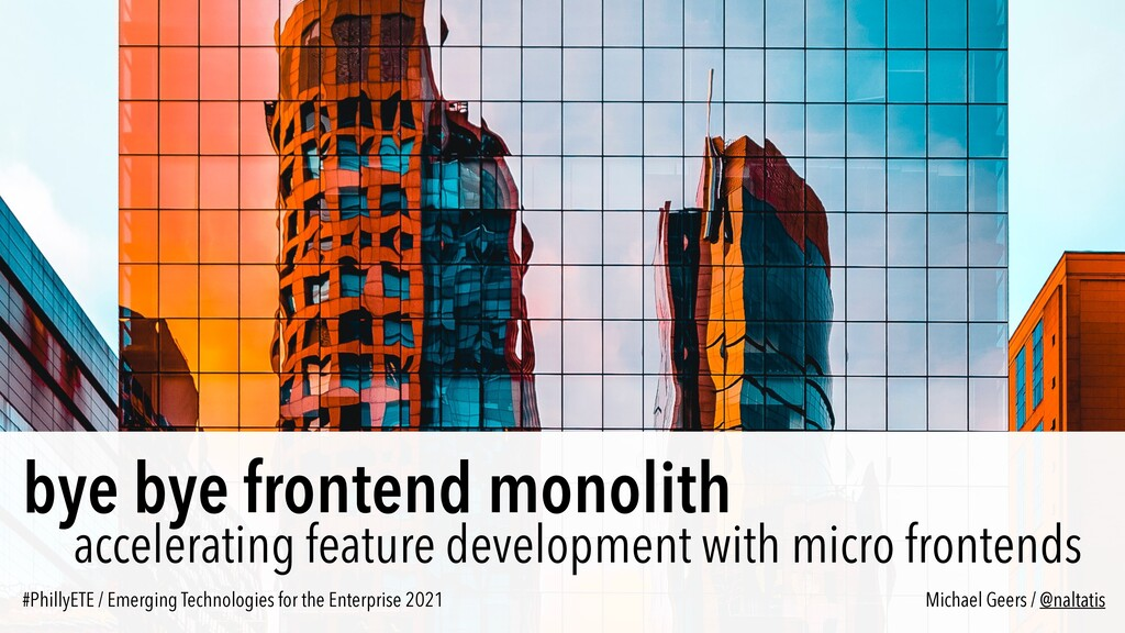 bye bye frontend monolith accelerating feature ...