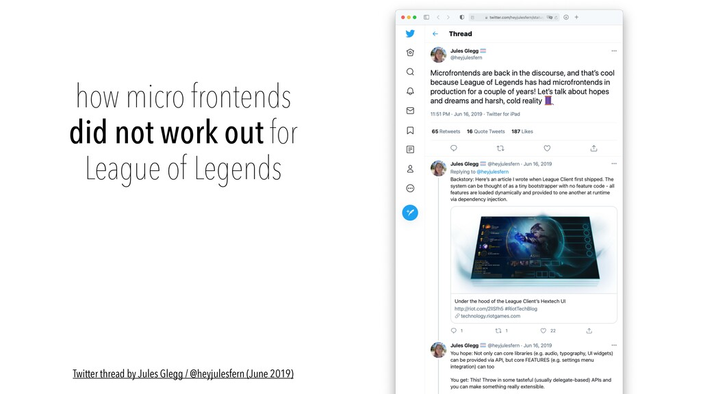 how micro frontends did not work out for   Leag...