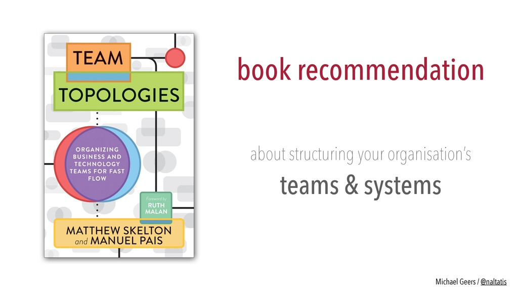 book recommendation about structuring your orga...