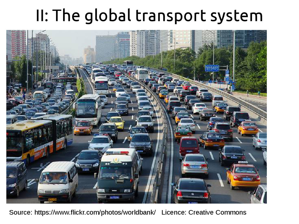 II: The global transport system Source: https:/...