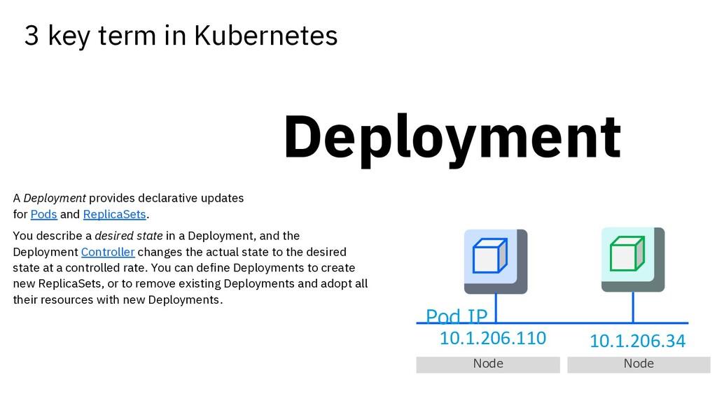 Deployment A Deployment provides declarative up...
