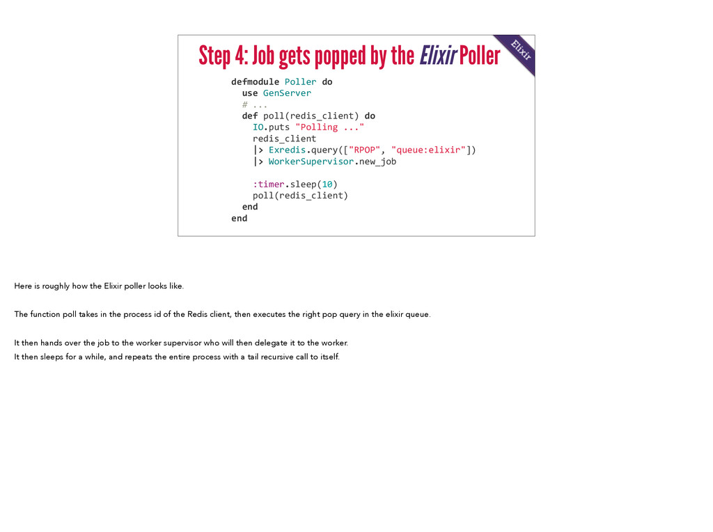 Step 4: Job gets popped by the Elixir Poller de...