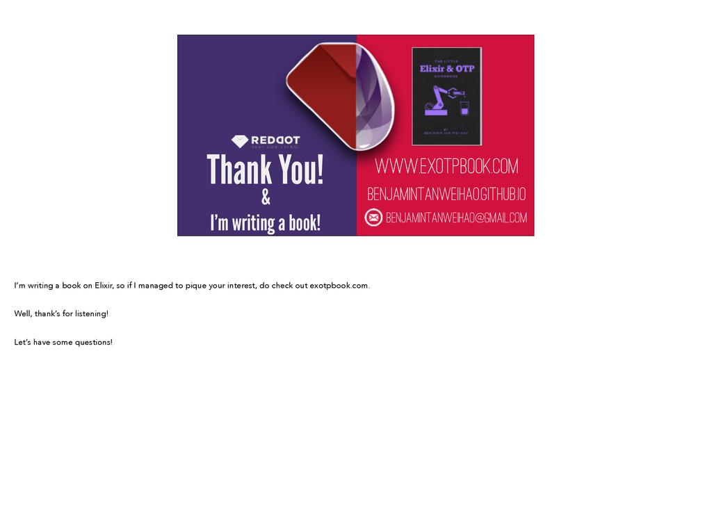 Thank You! www.exotpbook.com BENJAMINTANWEIHAO....