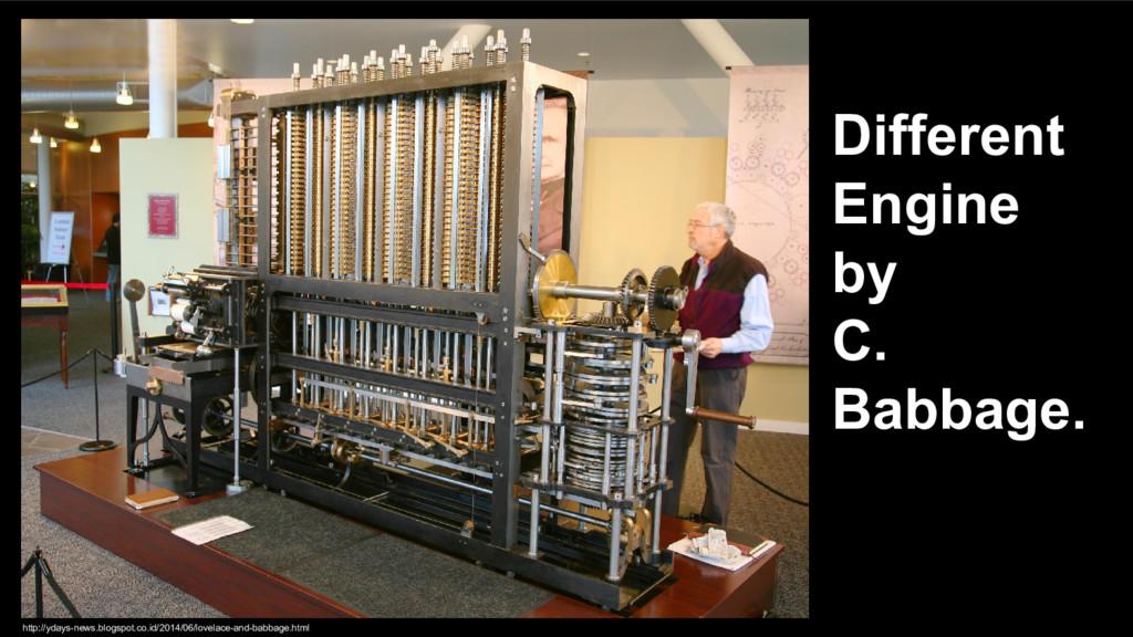Different Engine by C. Babbage. http://ydays-ne...