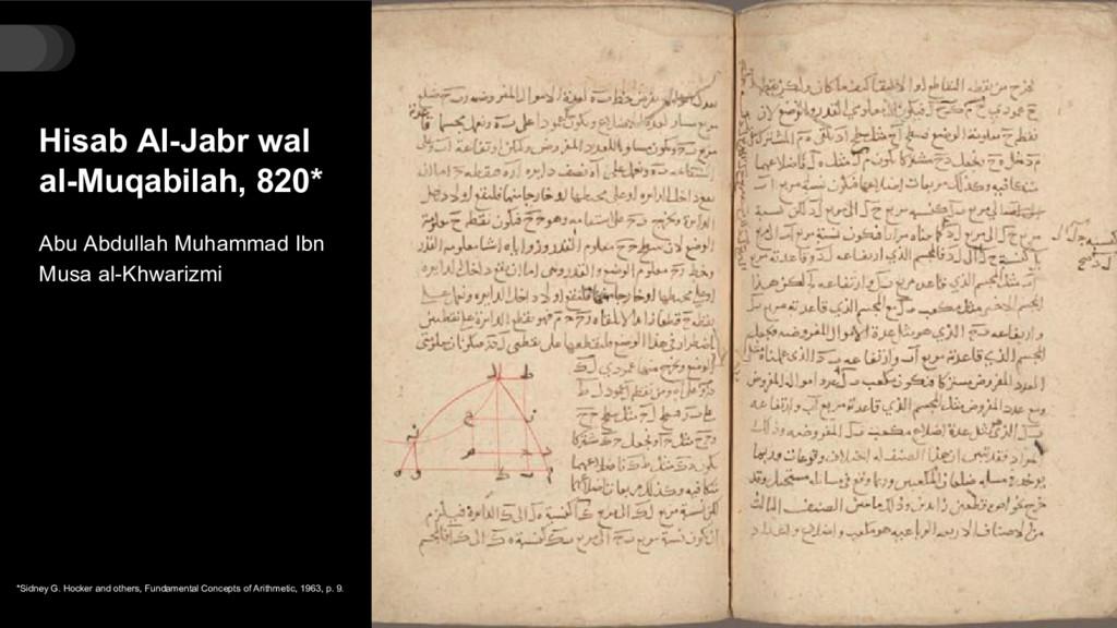 Hisab Al-Jabr wal al-Muqabilah, 820* Abu Abdull...