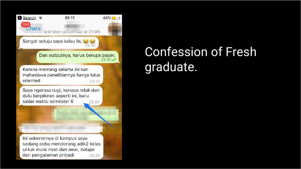 Confession of Fresh graduate.