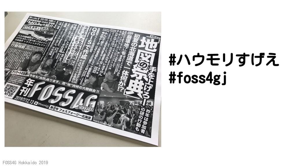 FOSS4G Hokkaido 2019 #ハウモリすげえ #foss4gj