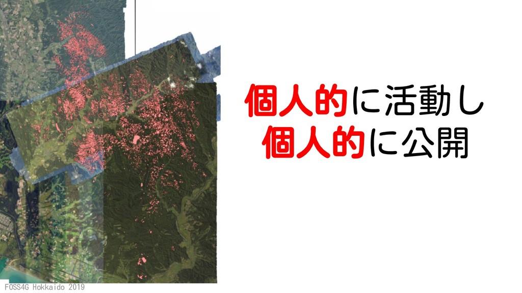 FOSS4G Hokkaido 2019 個人的に活動し 個人的に公開