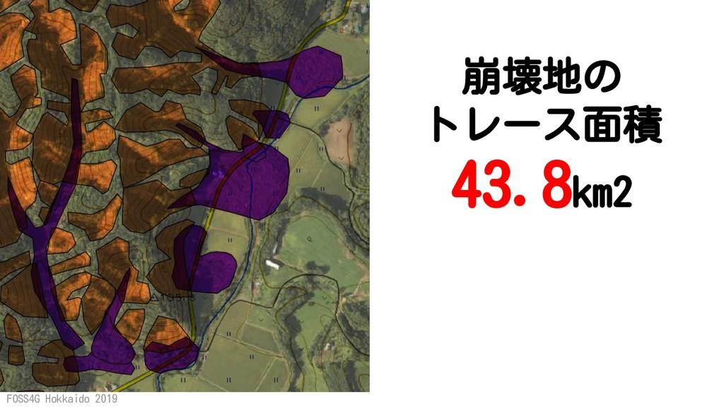 FOSS4G Hokkaido 2019 崩壊地の トレース面積 43.8km2