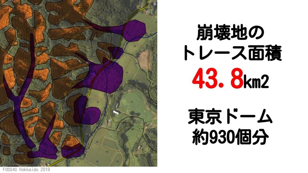 FOSS4G Hokkaido 2019 東京ドーム 約930個分 崩壊地の トレース面積 4...