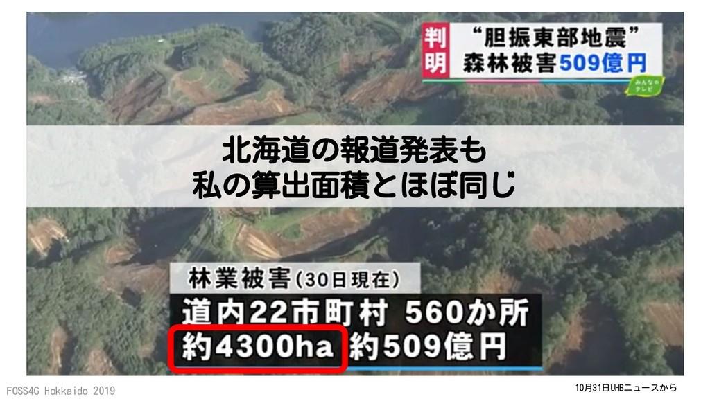 FOSS4G Hokkaido 2019 10月31日UHBニュースから 北海道の報道発表も ...