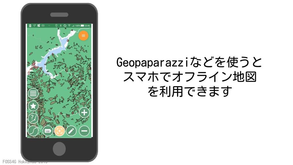 FOSS4G Hokkaido 2019 Geopaparazziなどを使うと スマホでオフラ...