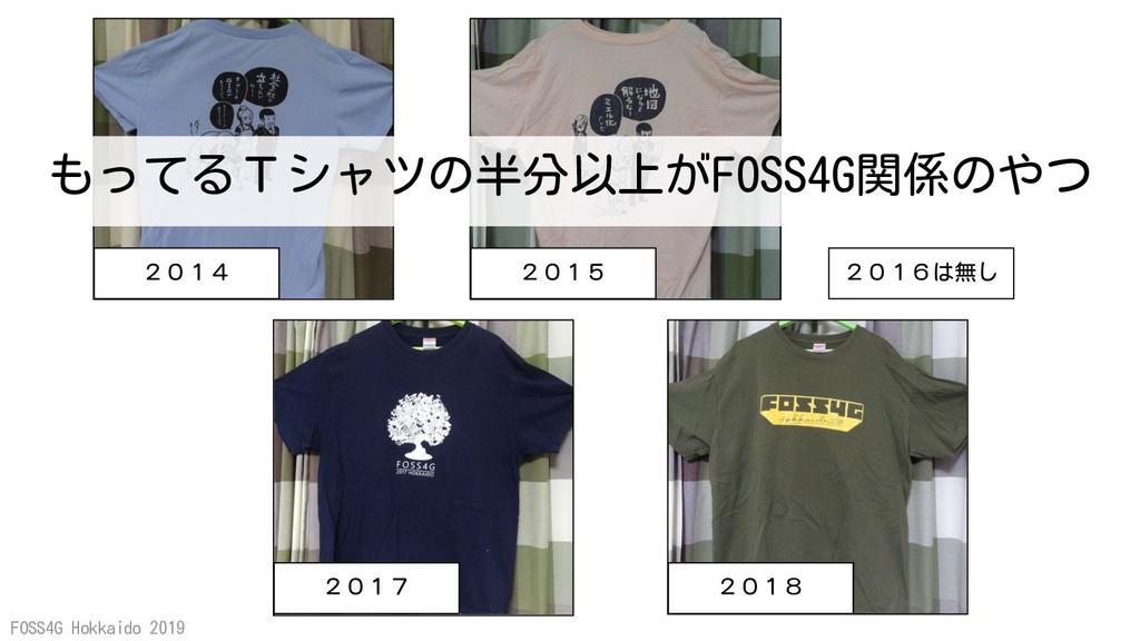 FOSS4G Hokkaido 2019 2014 2015 2017 2018 2016は無...