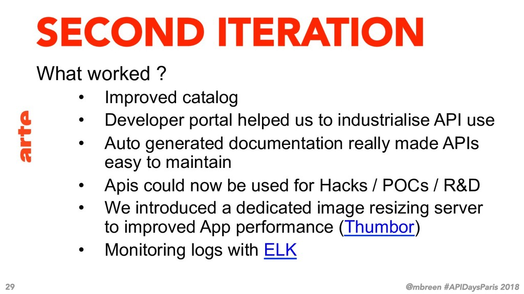 What worked ? • Improved catalog • Developer ...