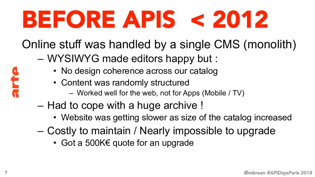 Online stuff was handled by a single CMS (monol...