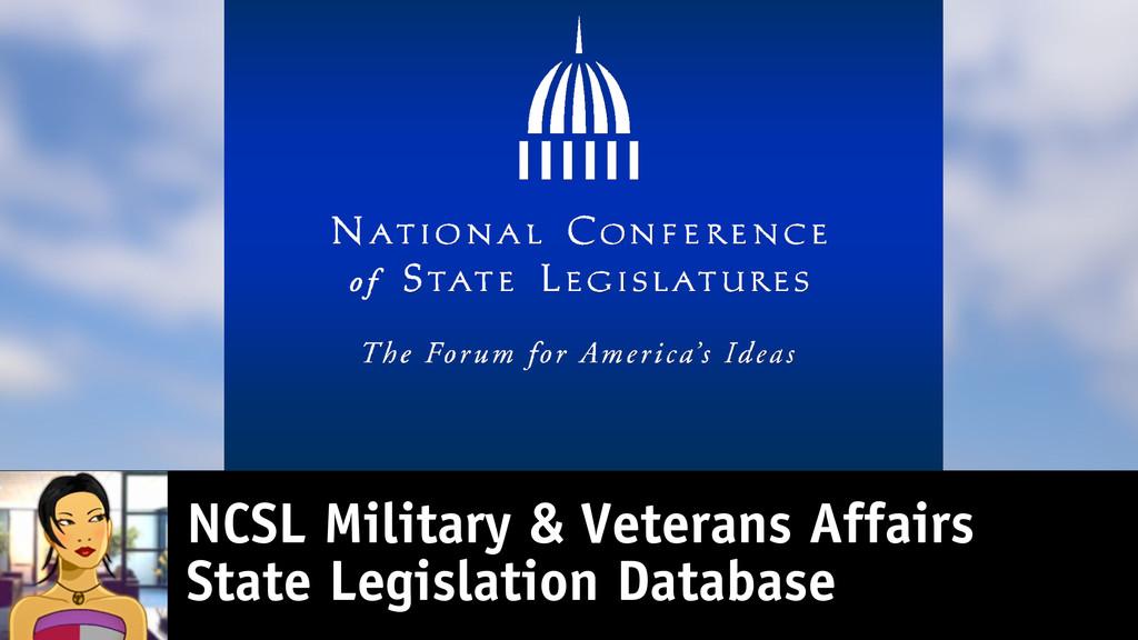 NCSL Military & Veterans Affairs State Legislat...