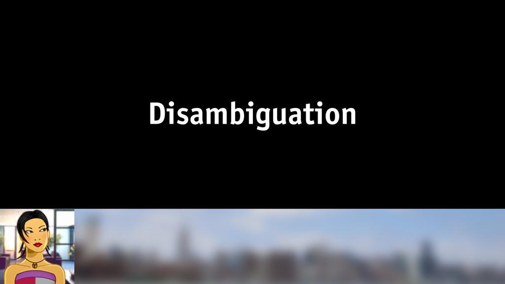 Disambiguation