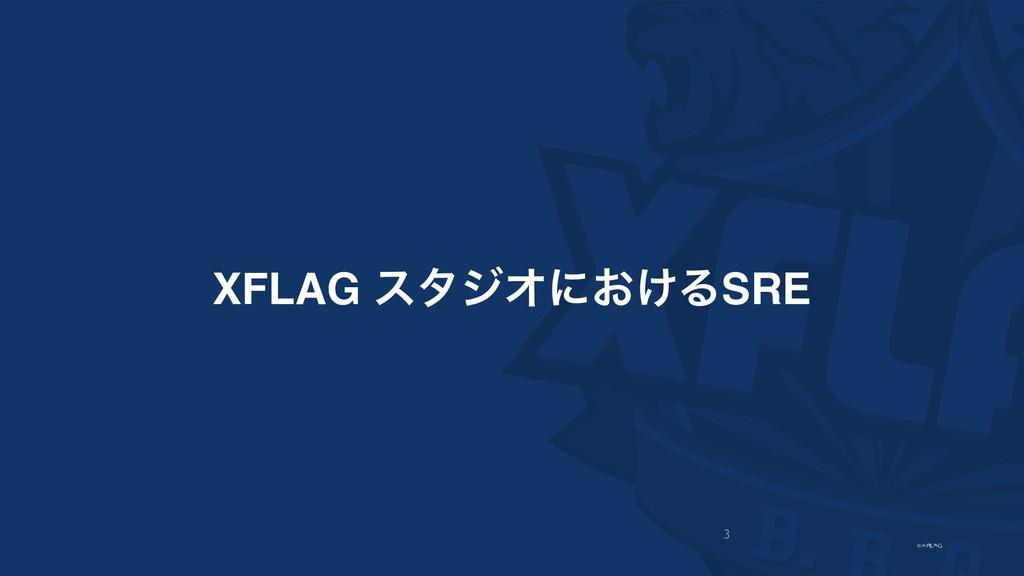 XFLAG ελδΦʹ͓͚ΔSRE 3