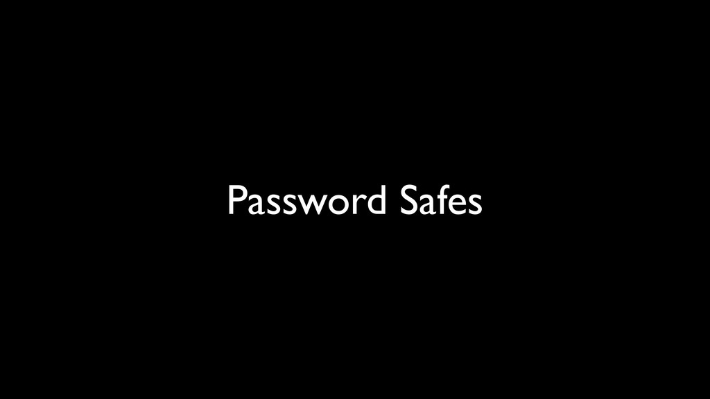Password Safes