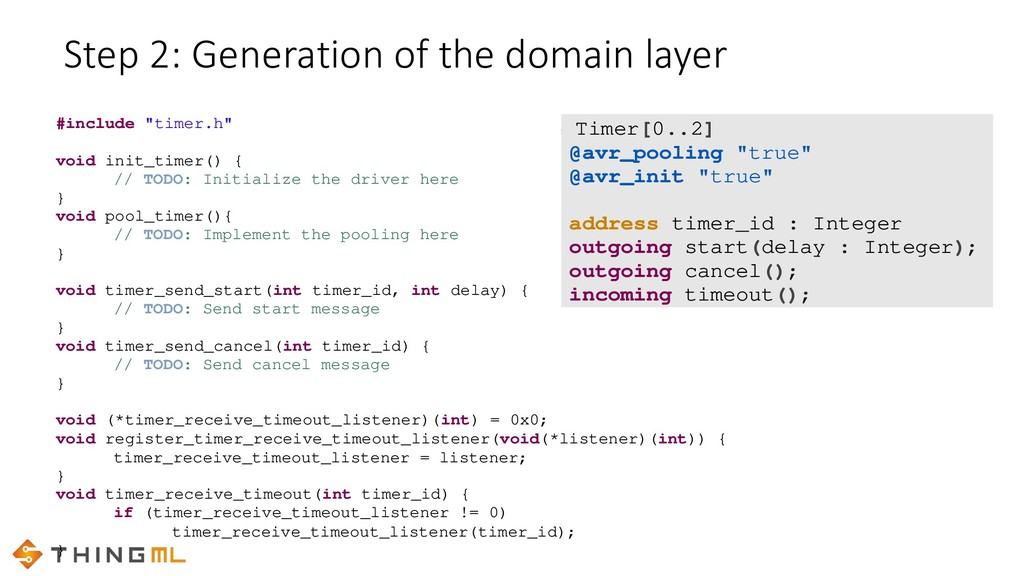 Step 2: Generation of the domain layer #include...