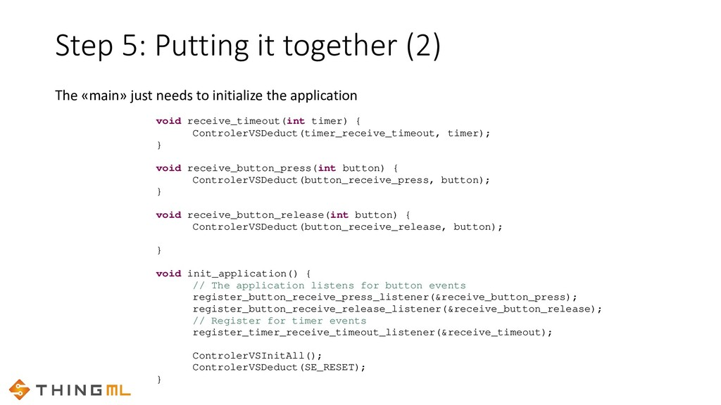 Step 5: Putting it together (2) void receive_ti...