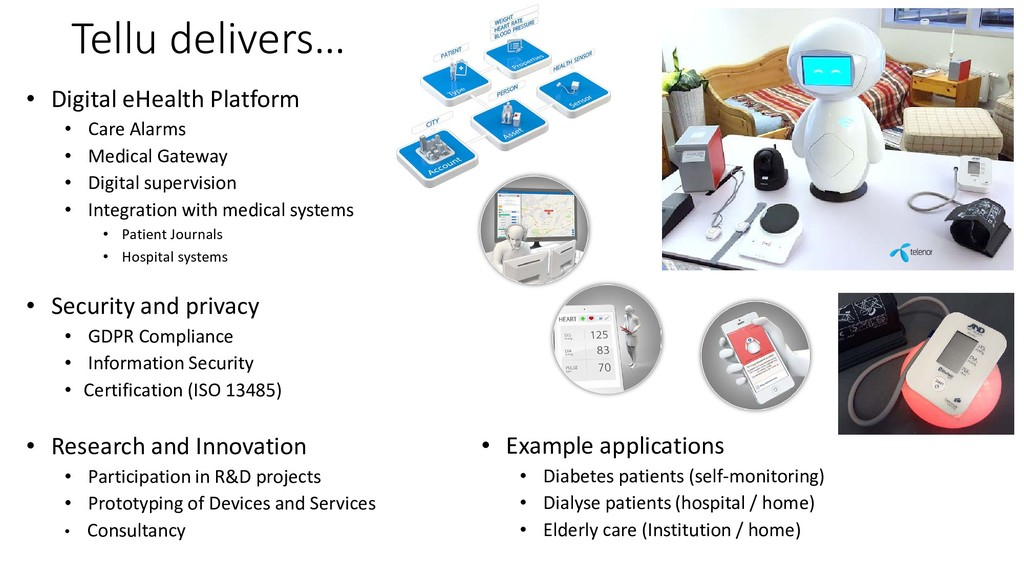 Tellu delivers… • Digital eHealth Platform • Ca...