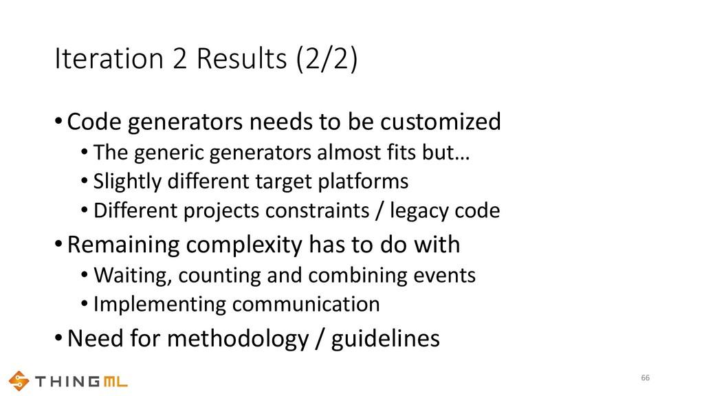 Iteration 2 Results (2/2) •Code generators need...