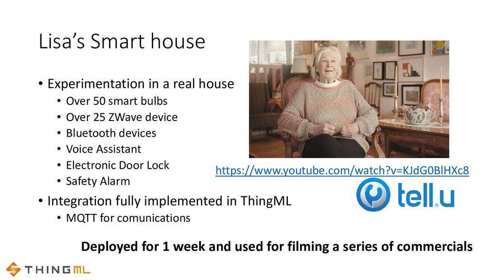 Lisa's Smart house • Experimentation in a real ...