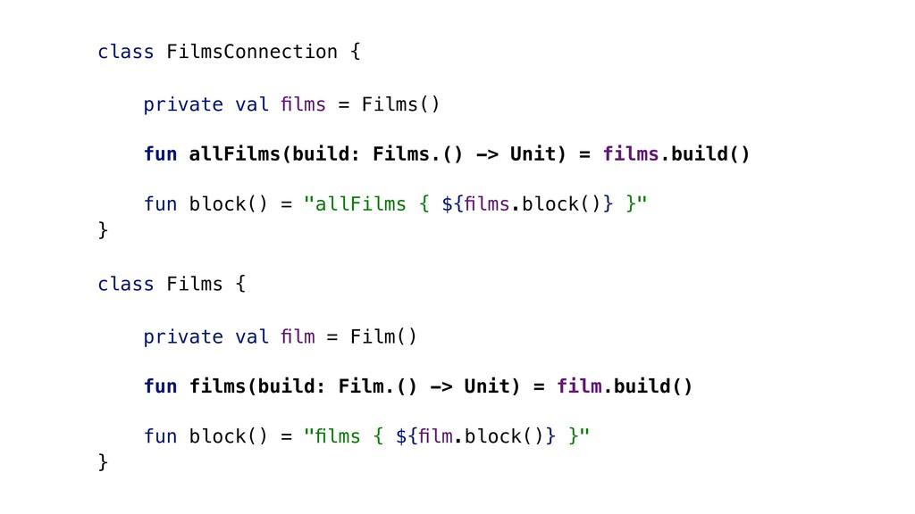 class FilmsConnection { private val films = Film...