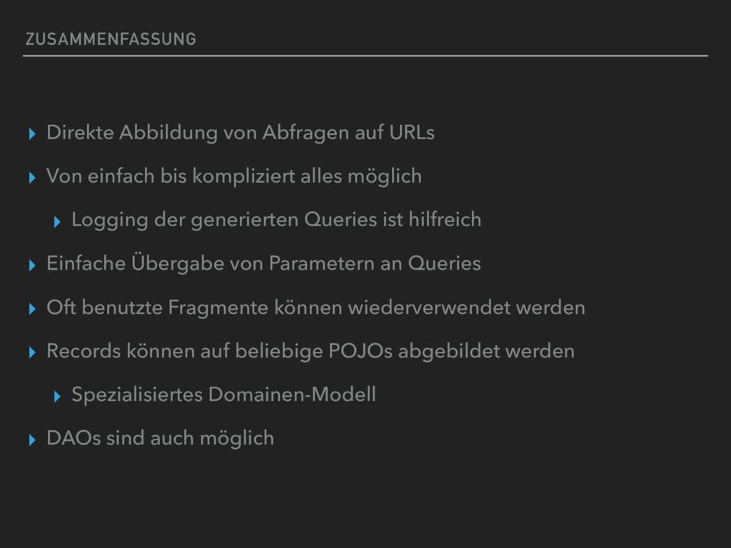 ZUSAMMENFASSUNG ▸ Direkte Abbildung von Abfrage...