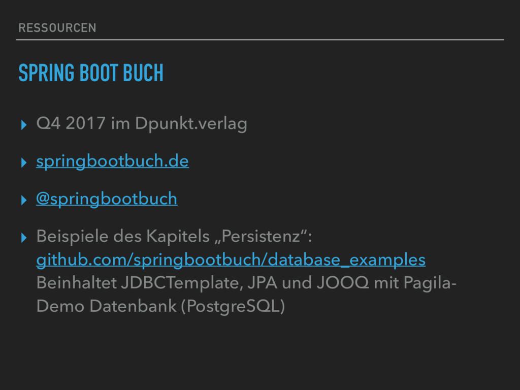 RESSOURCEN SPRING BOOT BUCH ▸ Q4 2017 im Dpunkt...