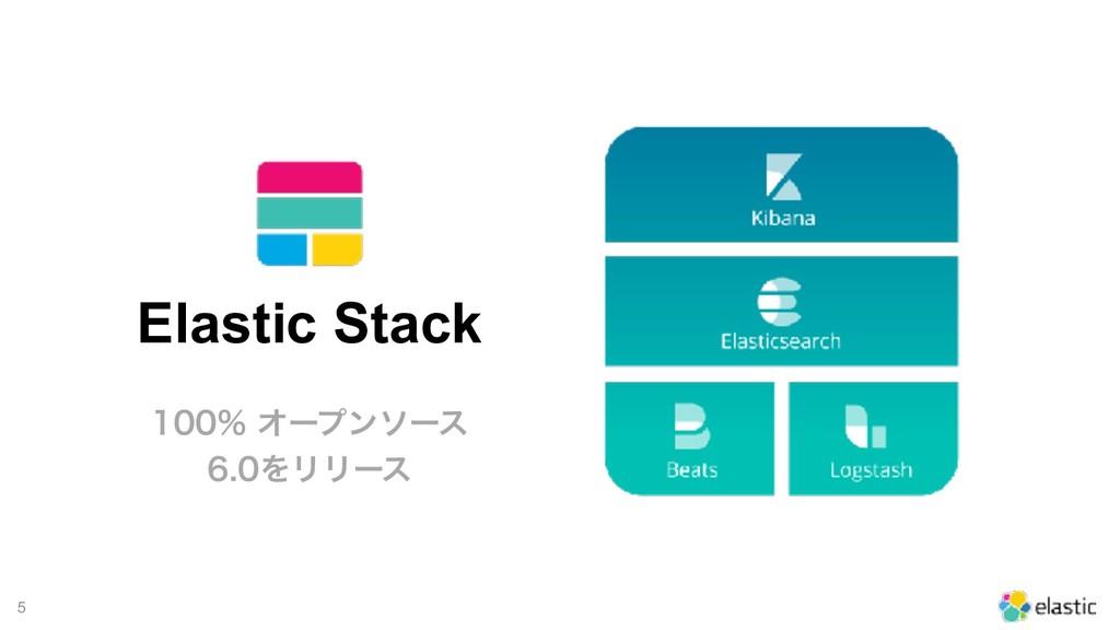 !5 Elastic Stack Φʔϓϯιʔε ΛϦϦʔε