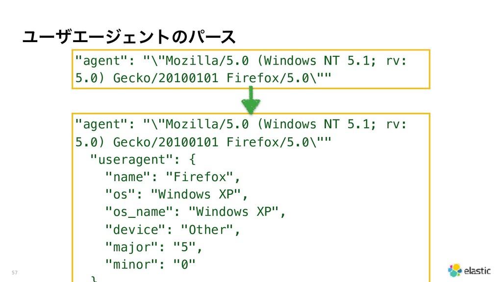 "ϢʔβΤʔδΣϯτͷύʔε 57 ""agent"": ""\""Mozilla/5.0 (Windo..."