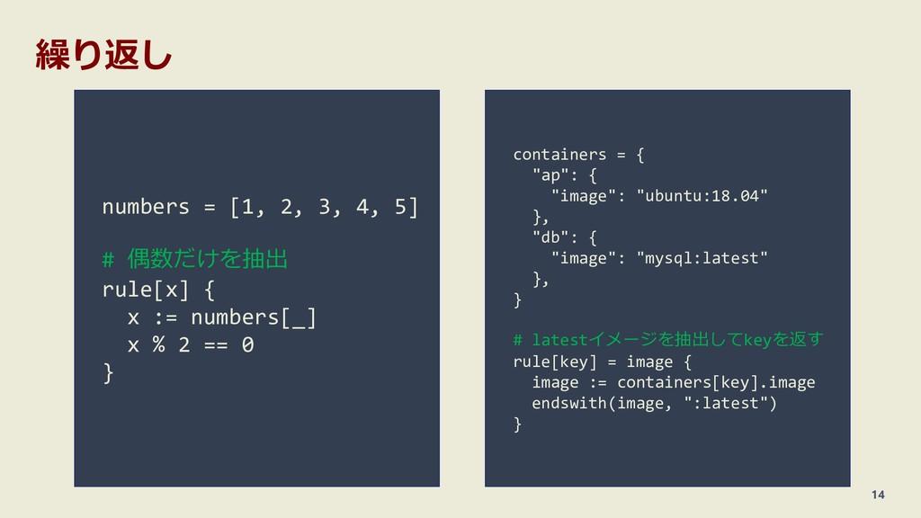 """繰り返し 14 containers = { """"ap"""": { """"image"""": """"ubuntu..."""