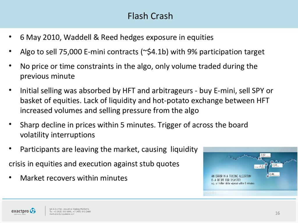 Flash Crash • 6 May 2010, Waddell & Reed hedges...