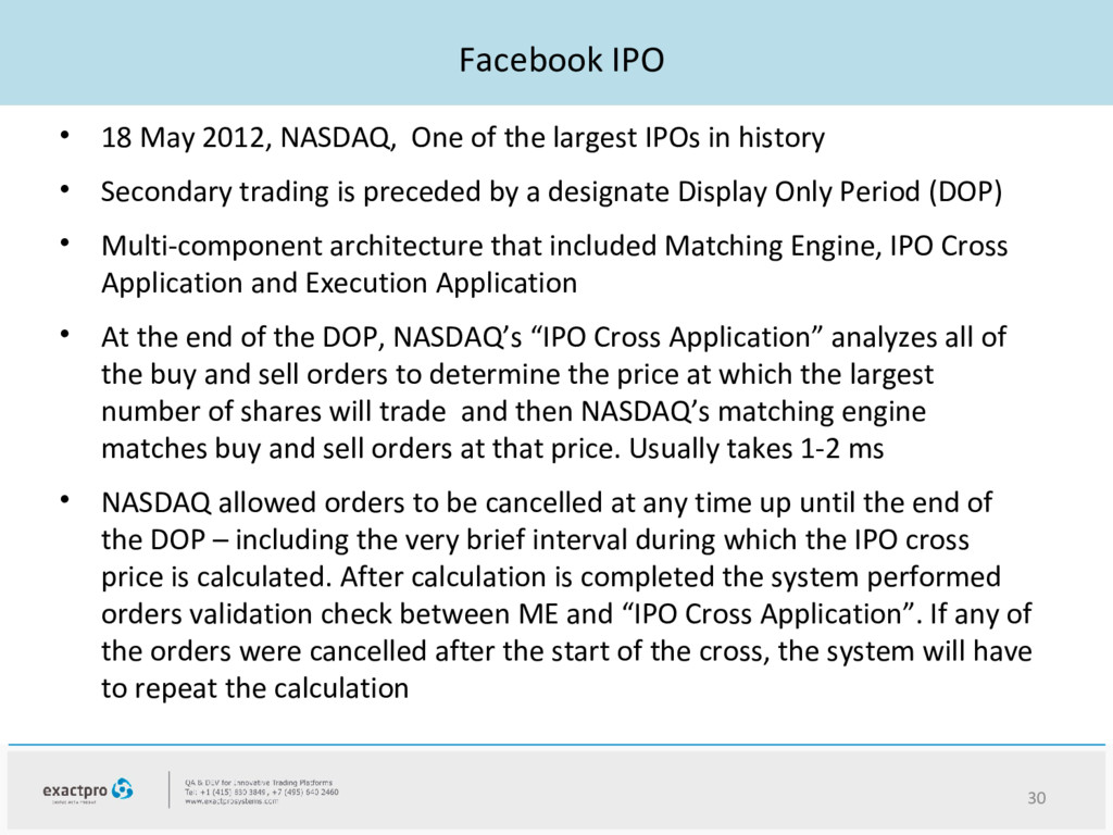 Facebook IPO • 18 May 2012, NASDAQ, One of the ...