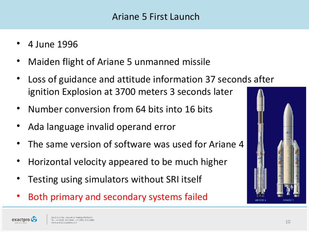 Ariane 5 First Launch • 4 June 1996 • Maiden fl...